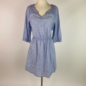 🛍️3/$20 Old Navy Women Chambray Polka Dot Dress